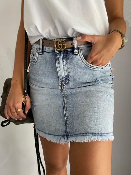 Riflová sukně krátká