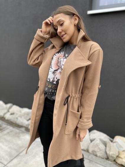 Kabát Ingrid hnědá