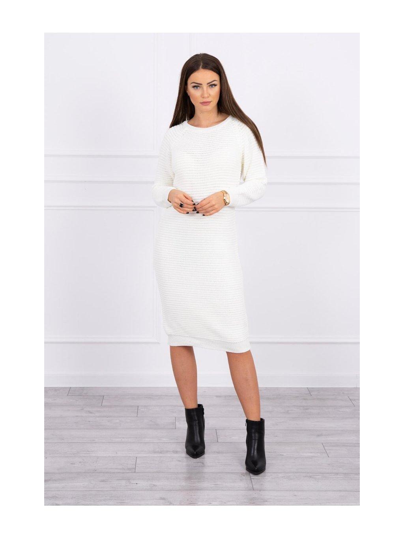 Svetrové šaty, krémová