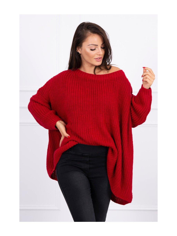 Oversize svetr červený