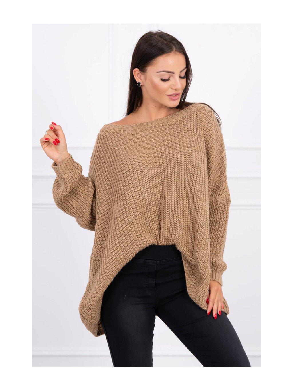 Široký svetr, oversized, velbloudí hnědá