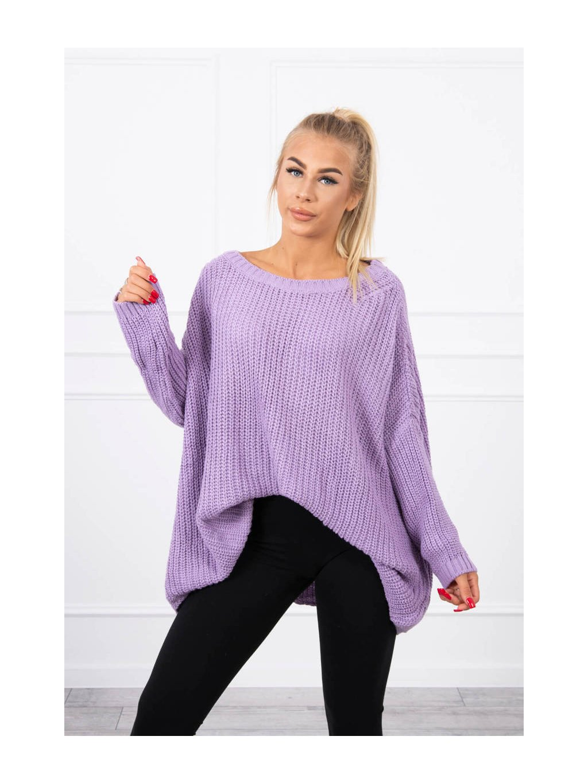 Širový svetr oversized, fialová
