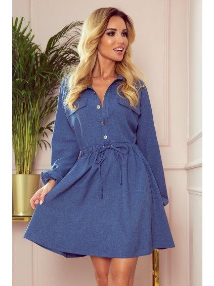 Košilové šaty Clara modré