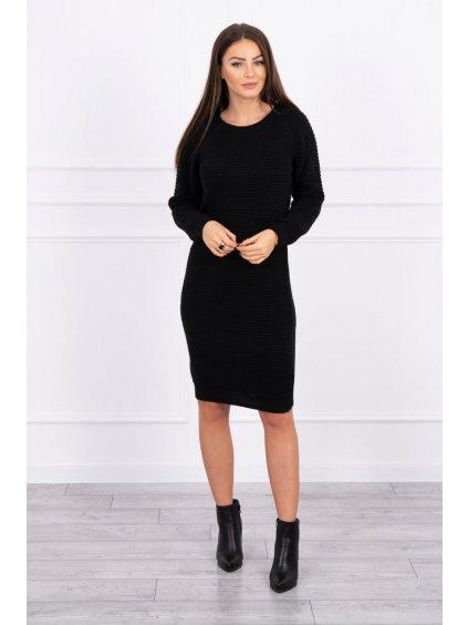Svetrové šaty, černá