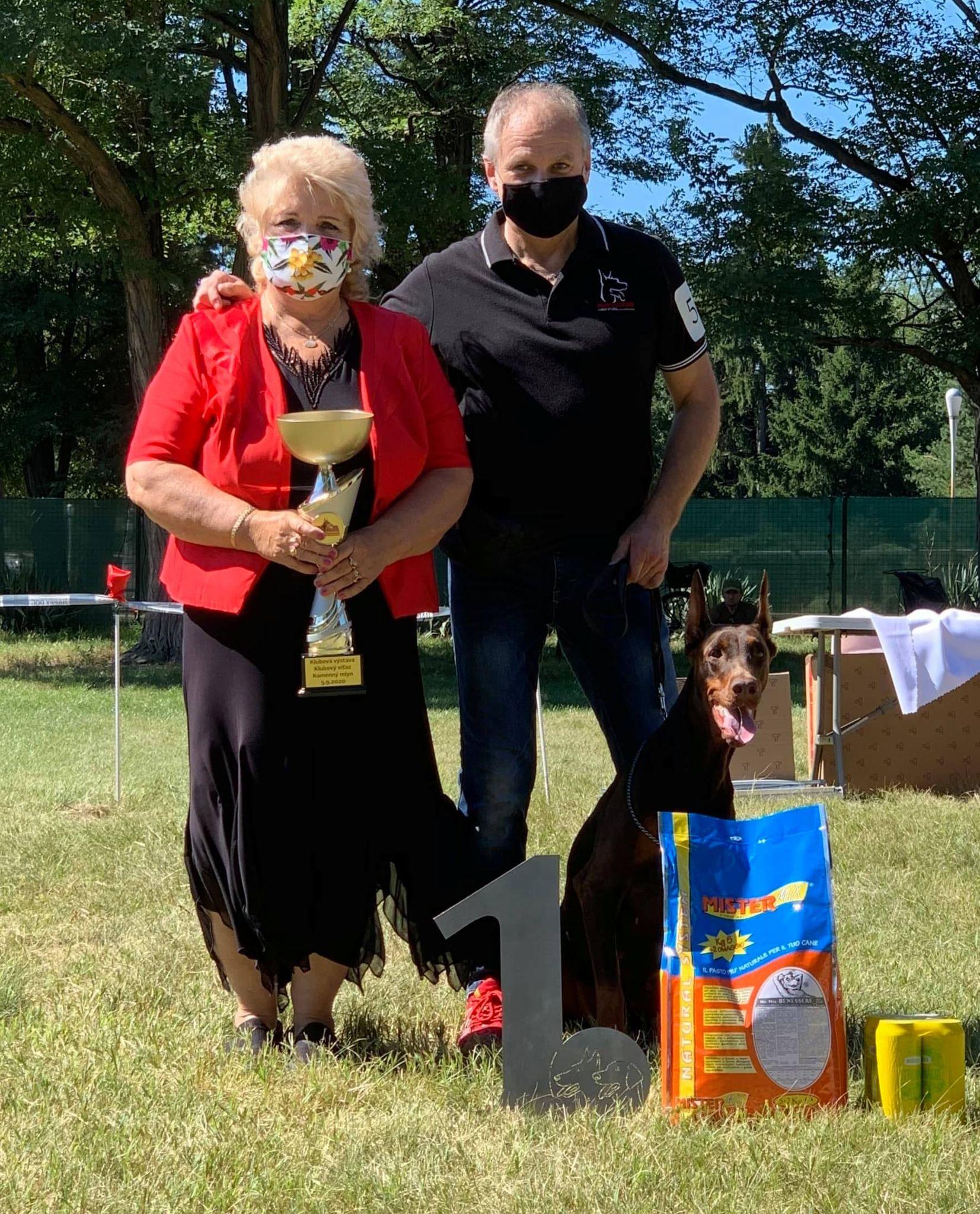 Club and Special dog show of DOBERMANS: 5.9.2020 / Kamenný mlyn, SK