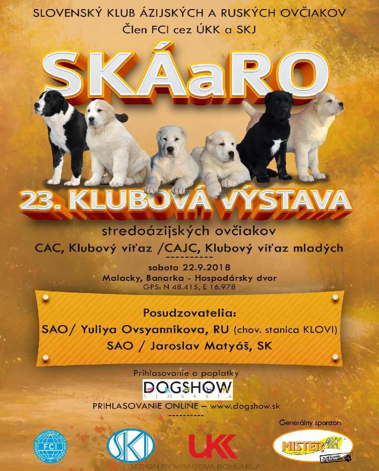 23. CLUB DOG SHOW SKÁARO 22.9.2018