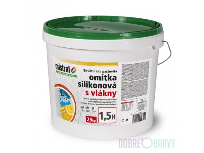 Mistral omítka silikonová s vláknem/25kg