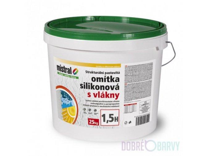 Mistral omítka silikonová s vláknem/bezpříplatkový/Symphony/25kg