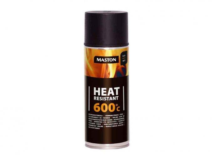 138714 maston spray heat resistant 600 c black matt cerna matna 400ml
