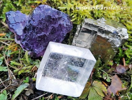 Mentální trojice - Kalcit, Fluorit a Pyrit