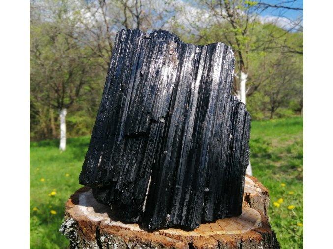 Černý turmalín 7,5kg - Skoryl, přírodní surový / Brazílie