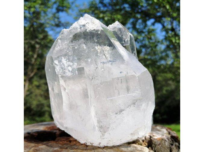 Katedrála/ Světelná knihovna 1,22kg - přírodní surový mistrovský krystal křišťálu