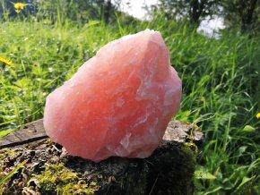 Růženín 1,26kg - přírodní surový kámen syté růžové barvy / Malawi
