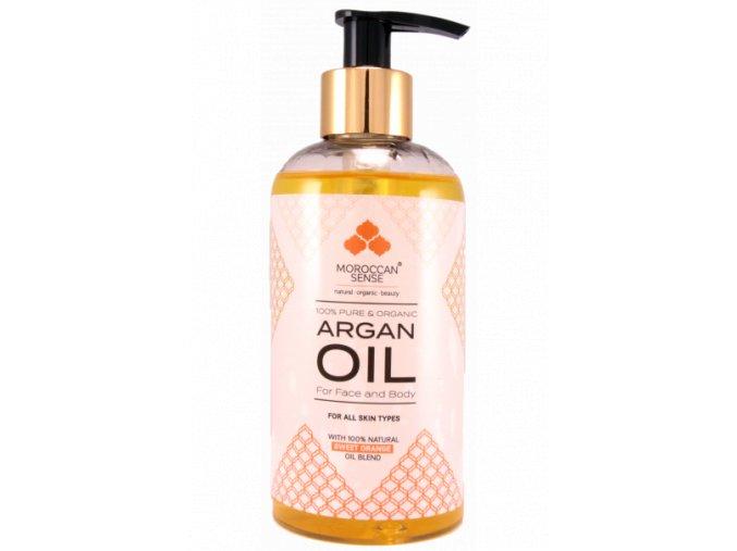 666 arganovy olej pro plet a telo pomeranc 250 ml