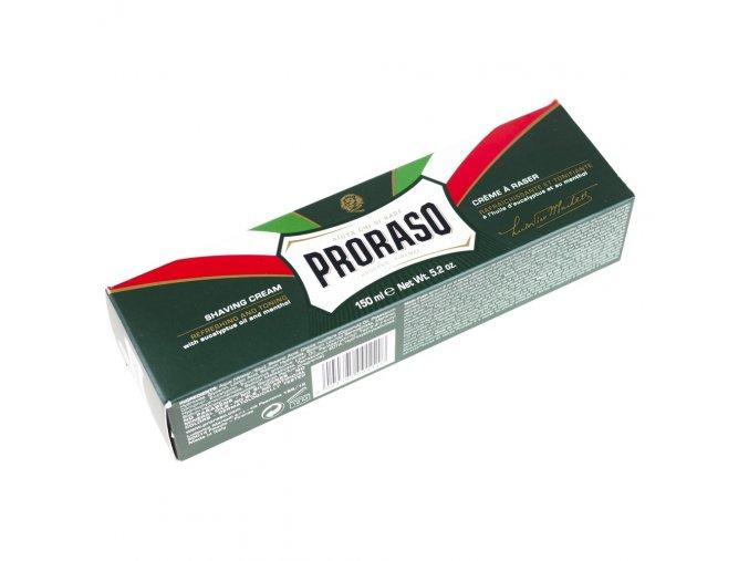 Osvěžující krém na holení Proraso Green - eukalyptus (150 ml)