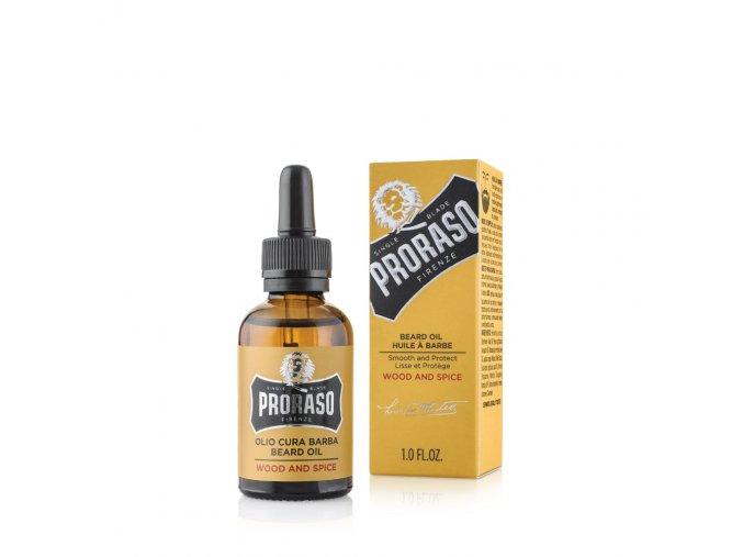 Olej na plnovous Proraso - Wood & Spice (30 ml)