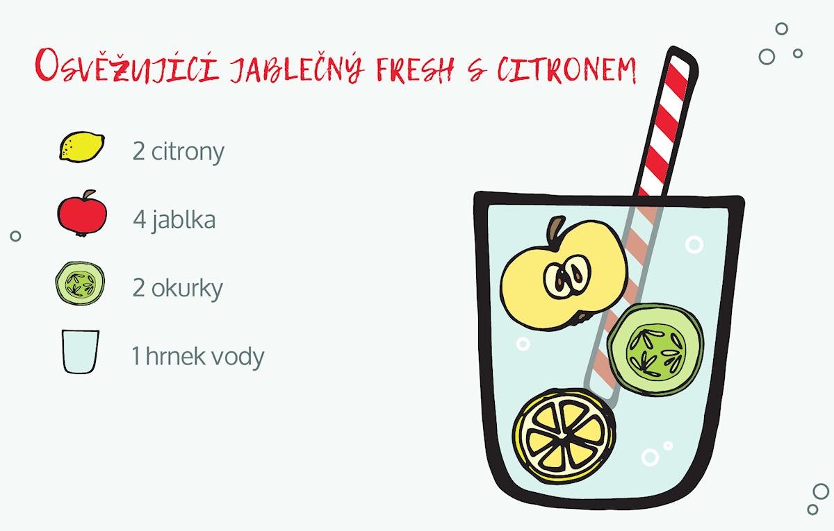 osvěžující jablečný džus s citronem