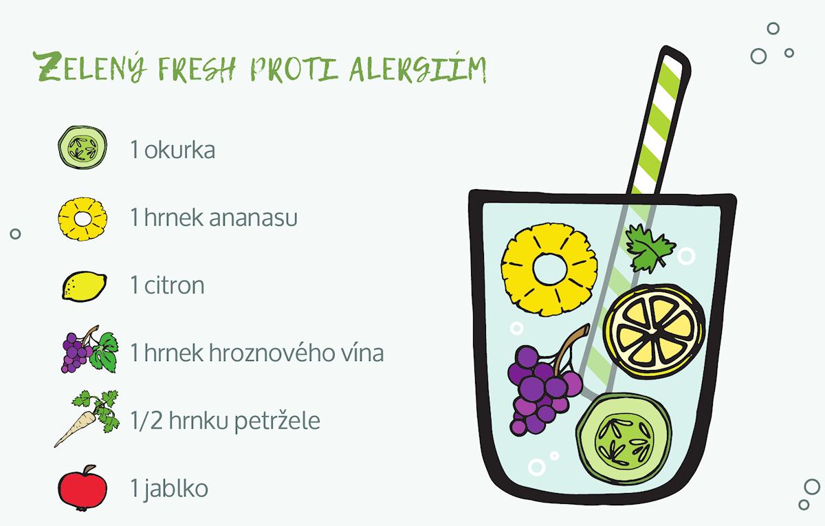 zelený džus proti alergiím