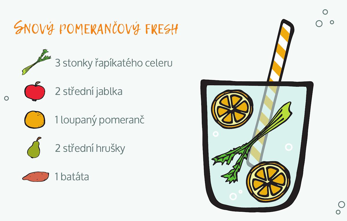 snový pomerančový džus