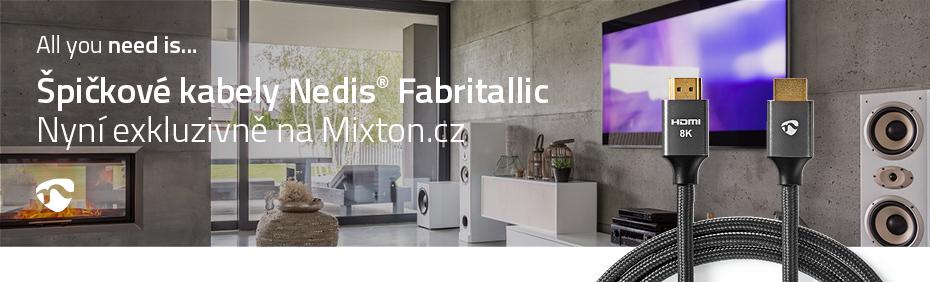Špičkové kabely NEDIS© Fabritallic exkluzivně na MIXTON.CZ