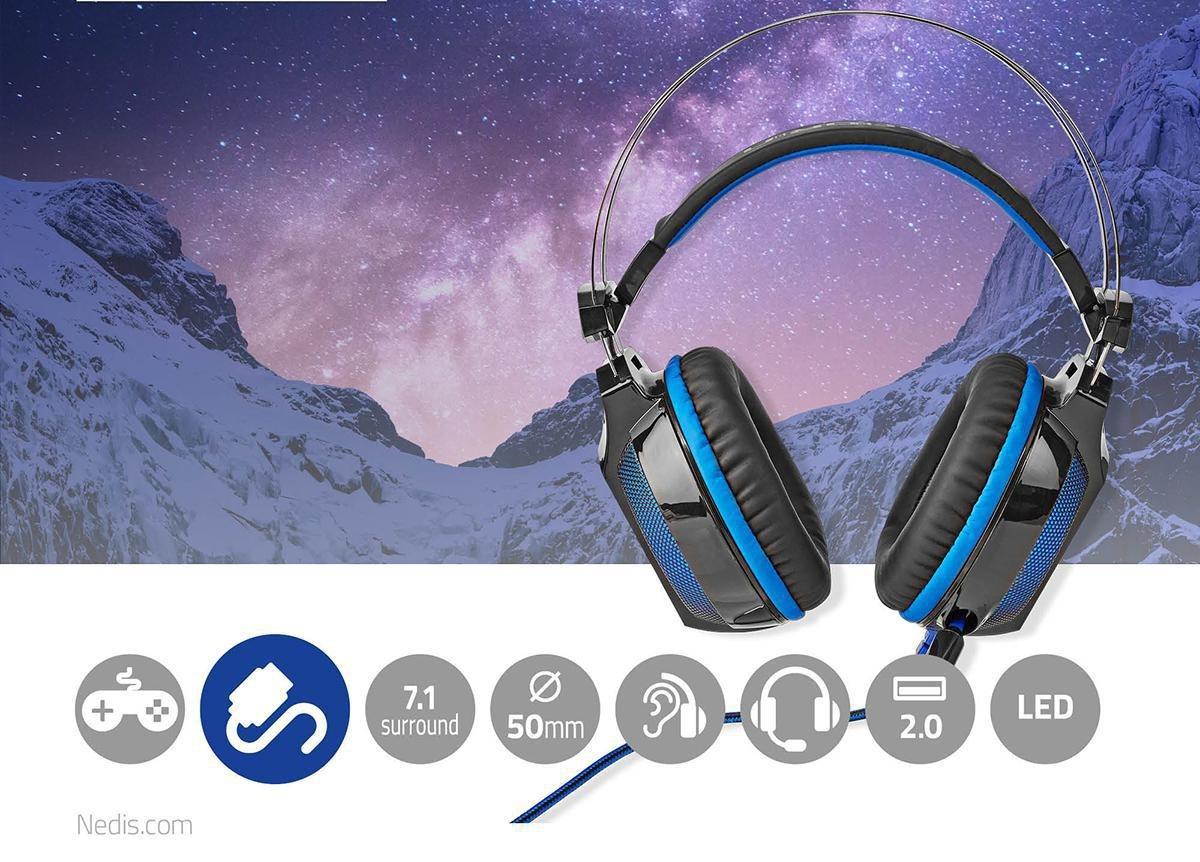 Herní sluchátka s virtuálním prostorovým zvukem 7.1, vibracemi a mikrofonem