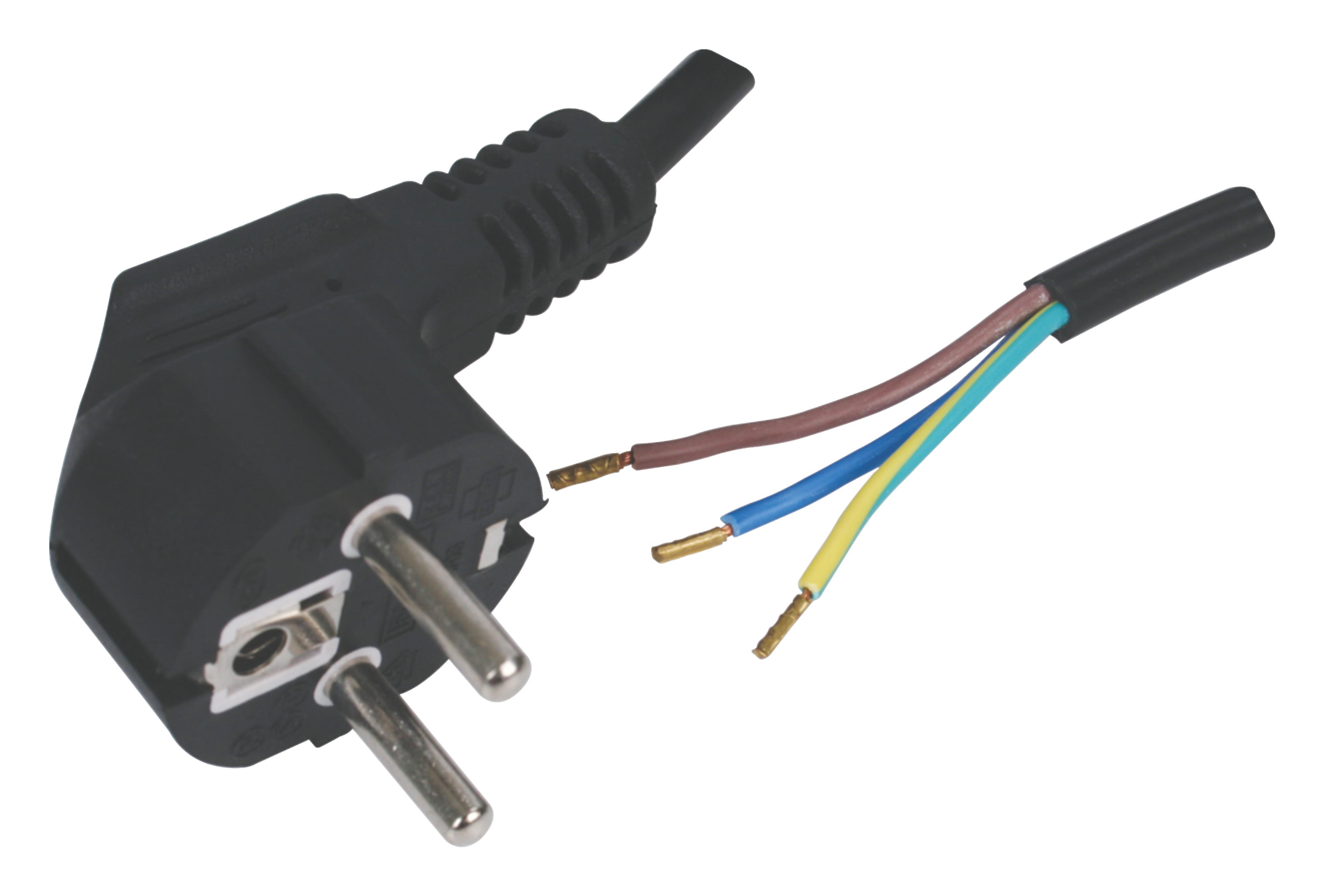 Flexo napájecí kabely 230 V s volným koncem