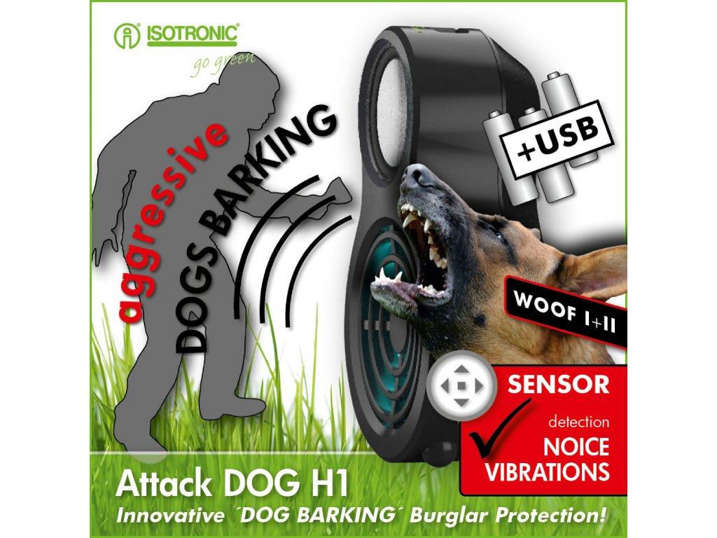 Simulátor štěkotu agresivního psa proti zlodějům Isotronic 70555