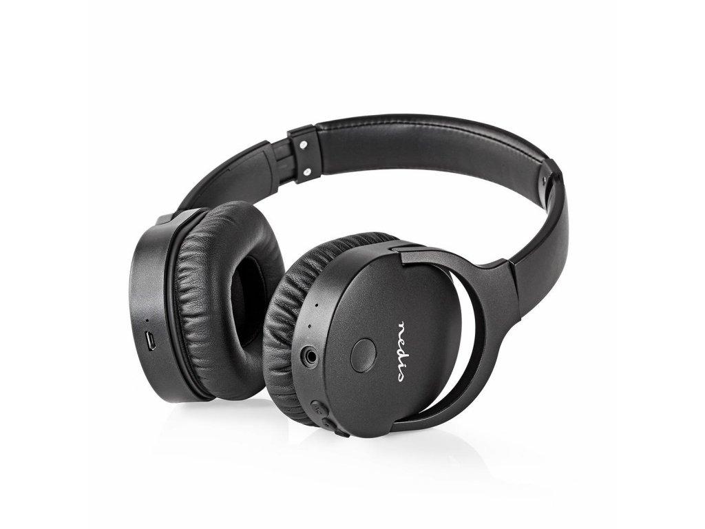 Nedis HPBT2260BK ANC Bluetooth headset, černá