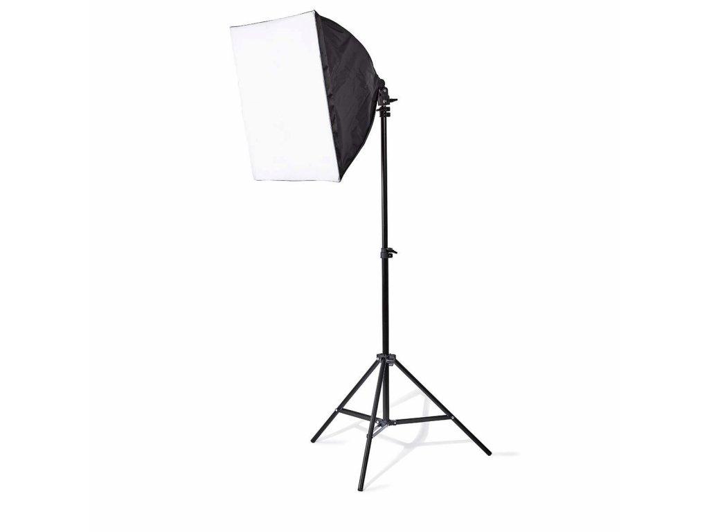 Nedis SLKT10BK fotostudio, 2x softbox 50 x 50 cm, 2x 70 W, 5500 K, skládací