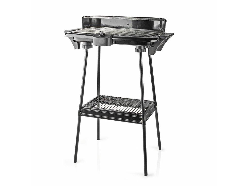 Nedis BBQE111BK elektrický gril pro BBQ, 46 × 28 cm, 2 000 W