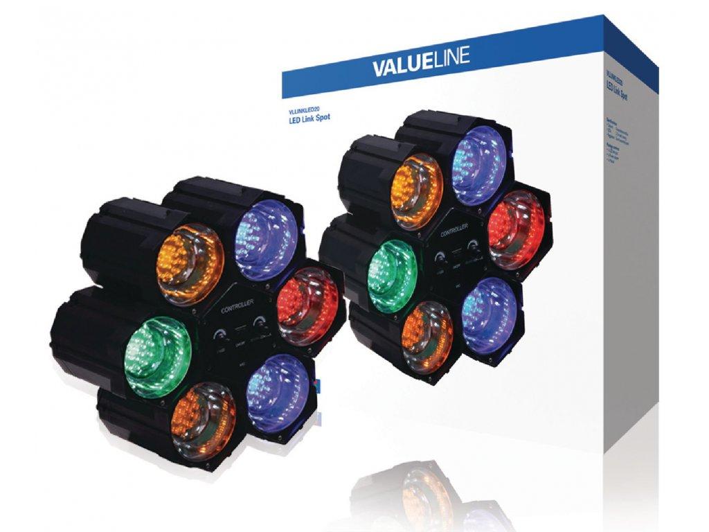 LED světelné varhany se 6 moduly Valueline VLLINKLED20