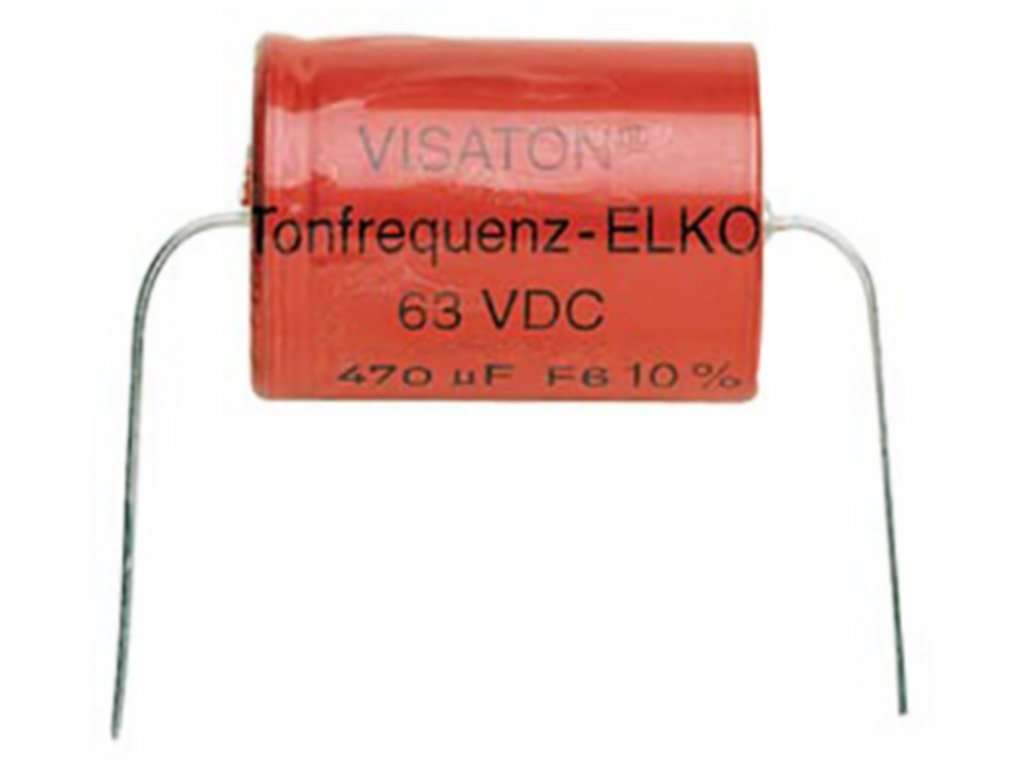 Kondenzátor bipolární, 470 uF, 63 V DC, Visaton 470/63BA
