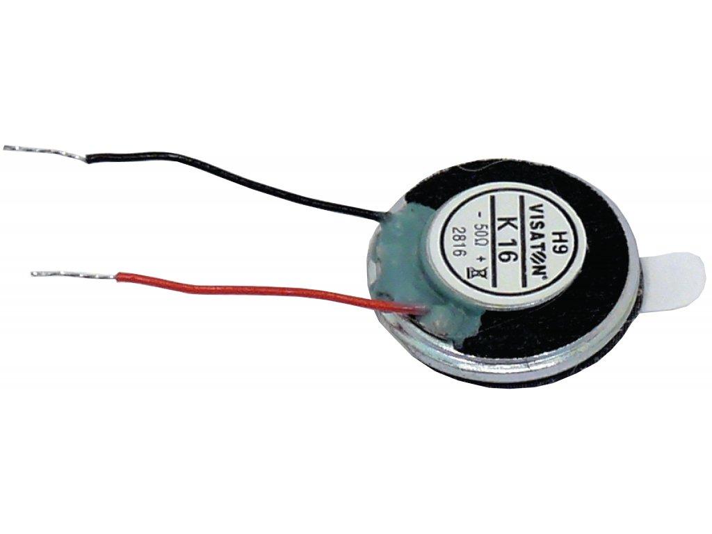 Miniaturní reproduktor 1.6 cm 50 Ohm 1 W Visaton, VS-K16