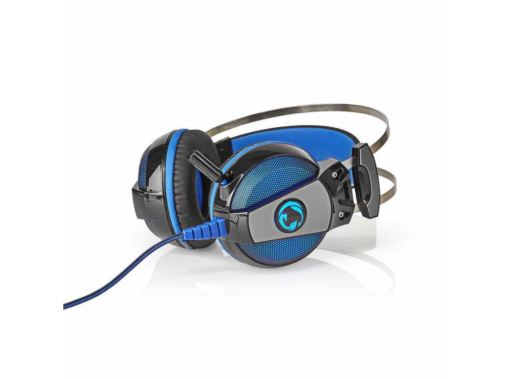 Nedis GHST500BK herní sluchátka / 7.1 Virtual Surround / LED / USB