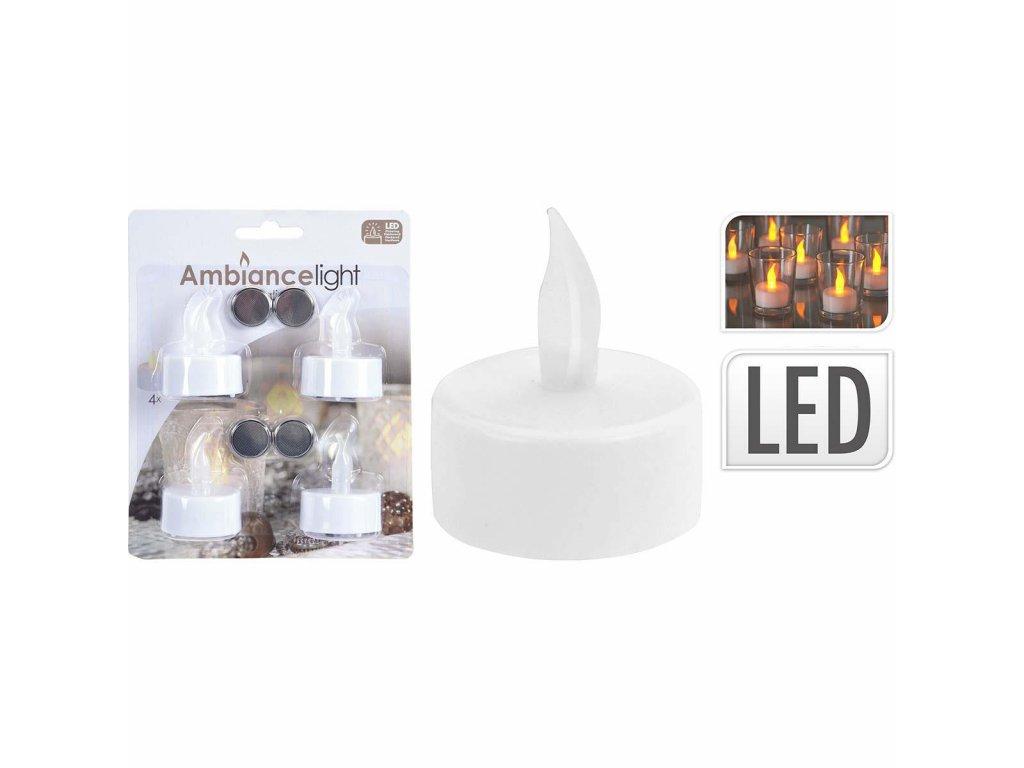 Čajová LED svíčka Ø 3.8 cm, baterie CR2032, 4ks, S.I.A (AX5990050)