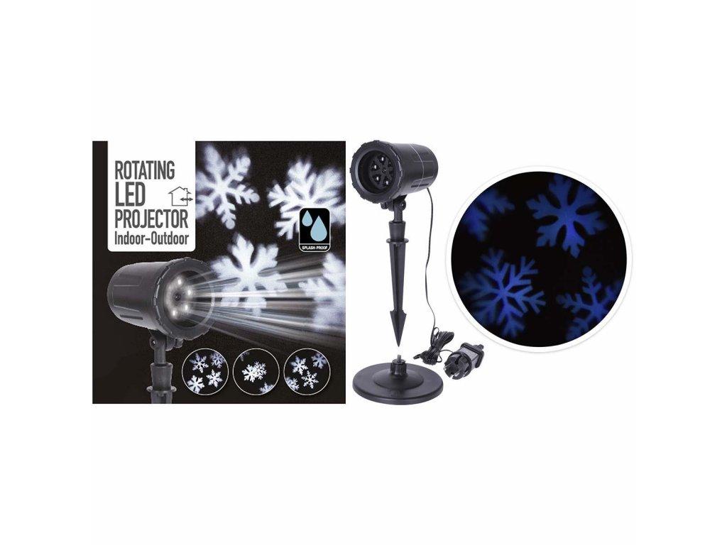 LED projektor sněhové vločky, 12V/2W, voděodolný IP44 (AXY000500)