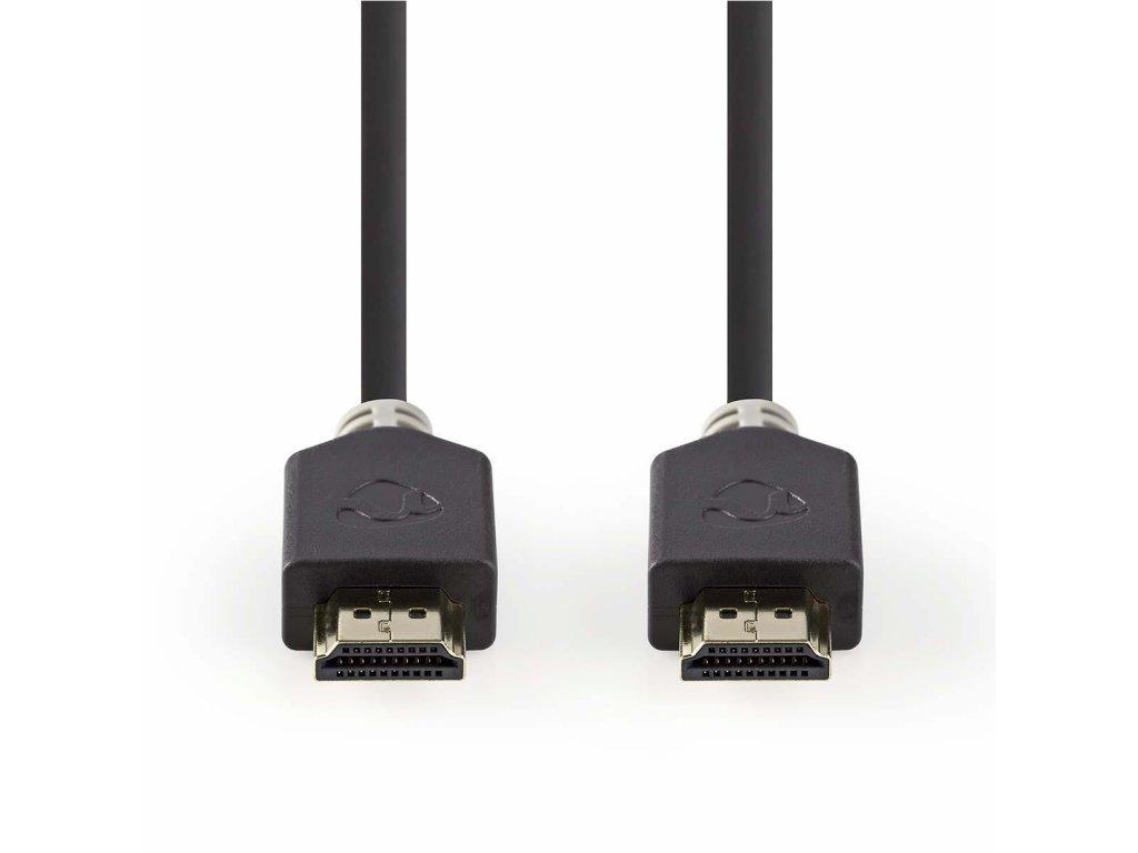 Nedis CVBP35000BK20 Ultra HD HDMI™ kabel, ethernet 2.1, 8K až 48 GB/s, zástrčka HDMI - zástrčka HDMI, 2 m, černá