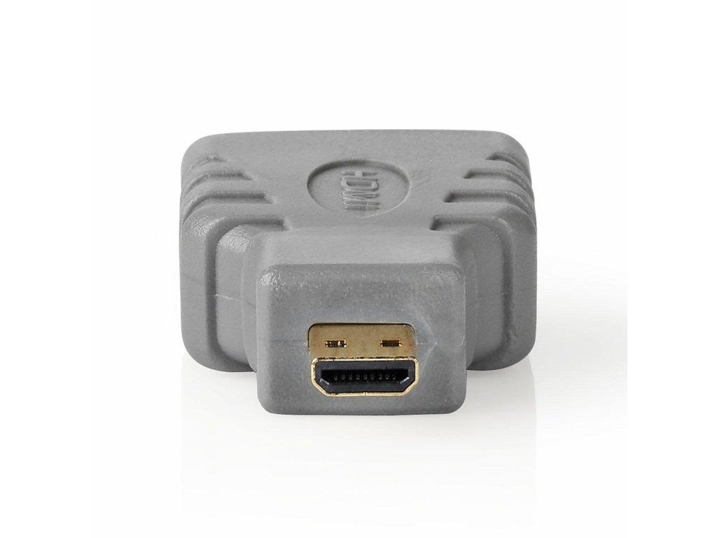 HDMI Adaptér | HDMI Micro Konektor – HDMI Zásuvka | Šedý