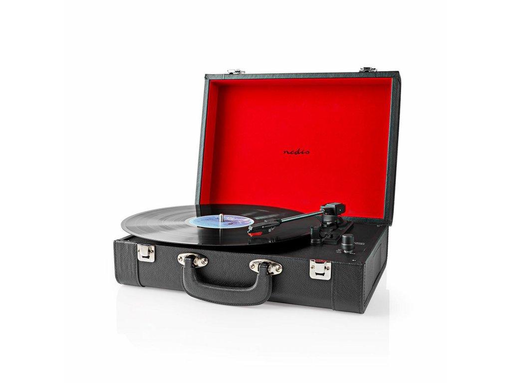 Nedis TURN210BK kufříkový gramofon 18 W, Bluetooth®, černá