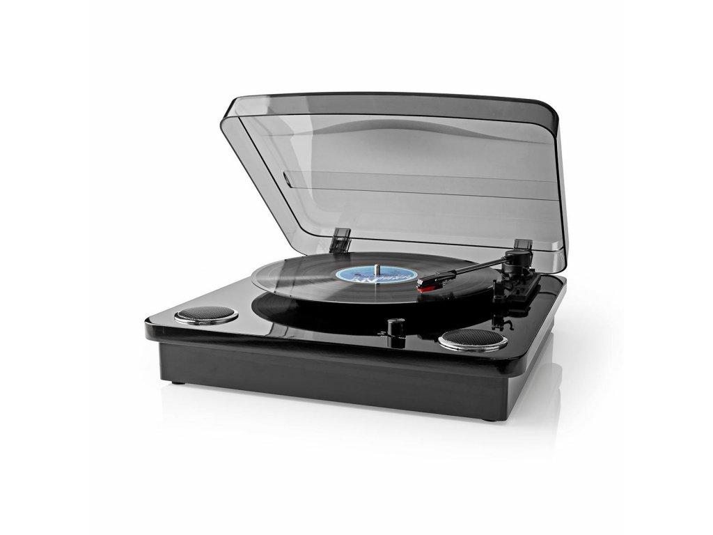Nedis TURN300BK gramofon 18 W, Bluetooth®, USB, černá
