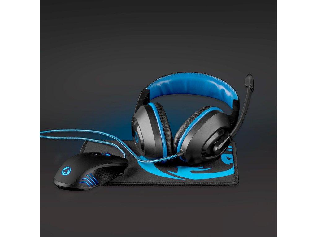 Nedis GCK31100BK herní set 3 v 1 herní sluchátka, myš a podložka