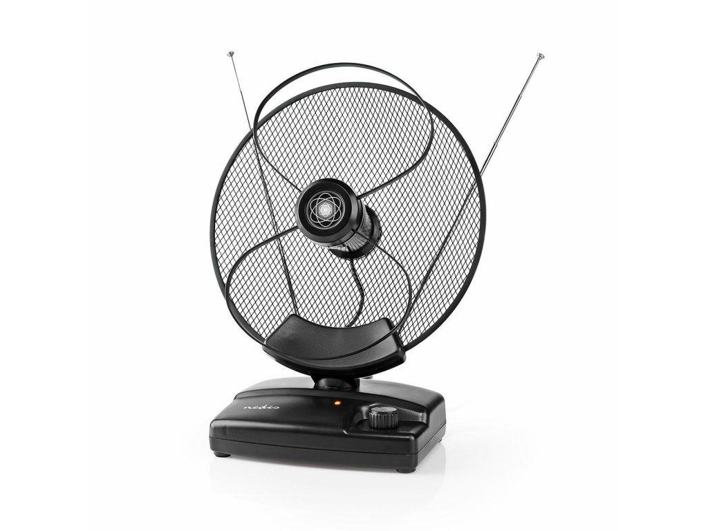 Nedis ANIR2503BK pokojová anténa se zesilovačem FM/VHF/UHF/FM 30-36 dB