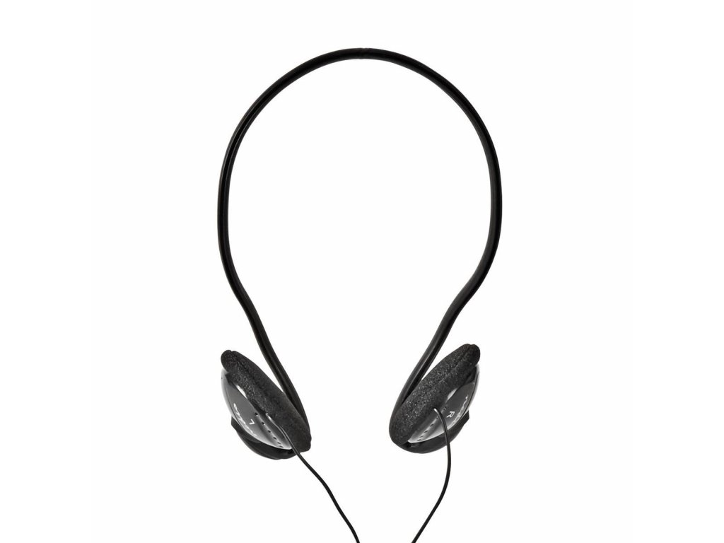 Nedis HPWD1105BK týlová sluchátka, kabel 2.1 m, černá