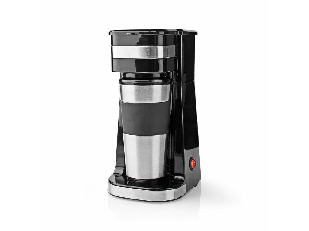 Nedis KACM300FBK osobní kávovar s termohrnkem 420 ml, černá