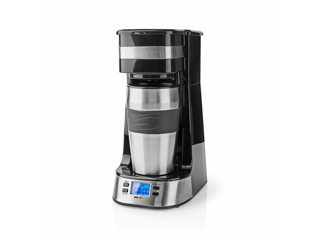 Nedis KACM310FBK osobní kávovar s termohrnkem 420 ml, časovač, černá