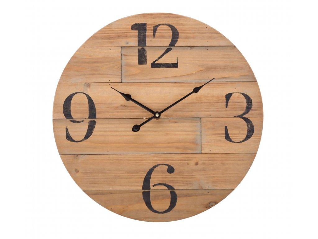 Dřevěné analogové nástěnné hodiny 50 cm Balance Wood (306711)