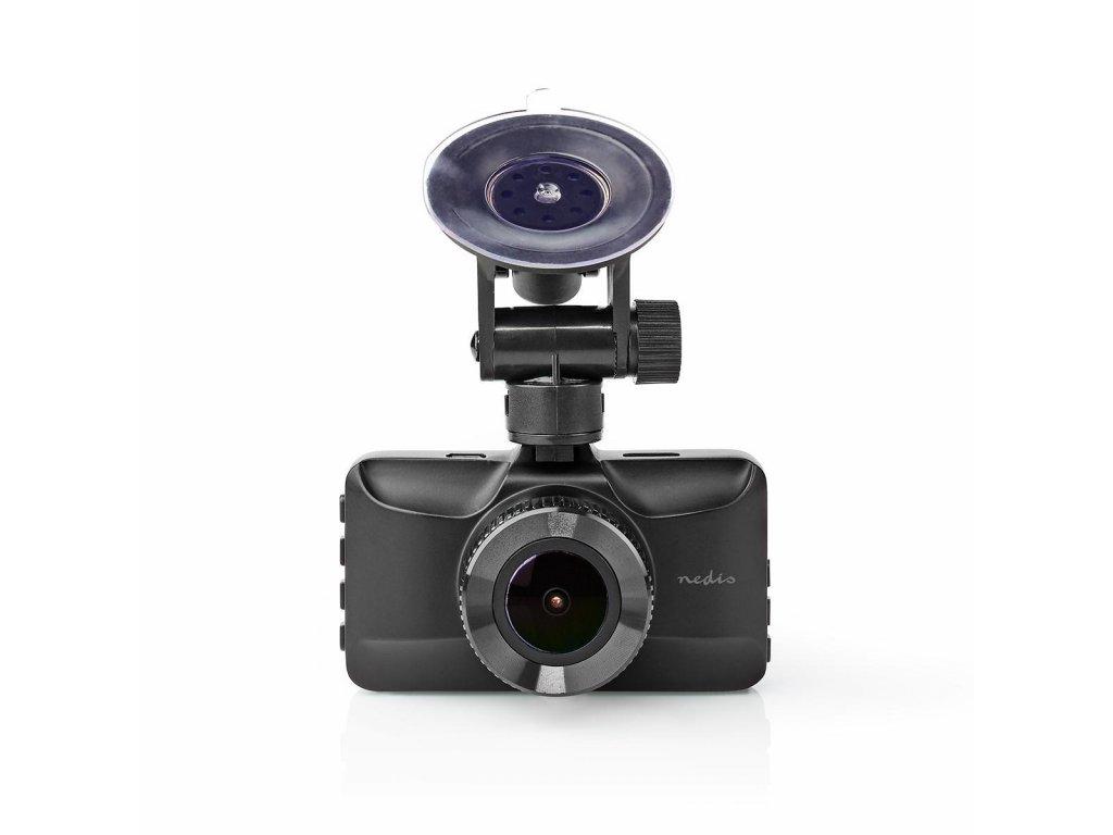 """Nedis DCAM15BK Full HD kamera do auta, 1080p, 3"""" displej, zorný úhel 120°, kovová"""