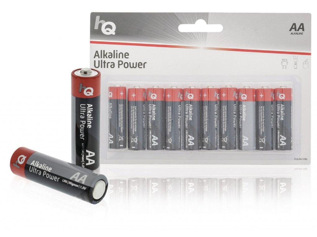 Alkalická baterie HQ Ultra Power AA 1.5 V, 10ks, HQLR6/10BL