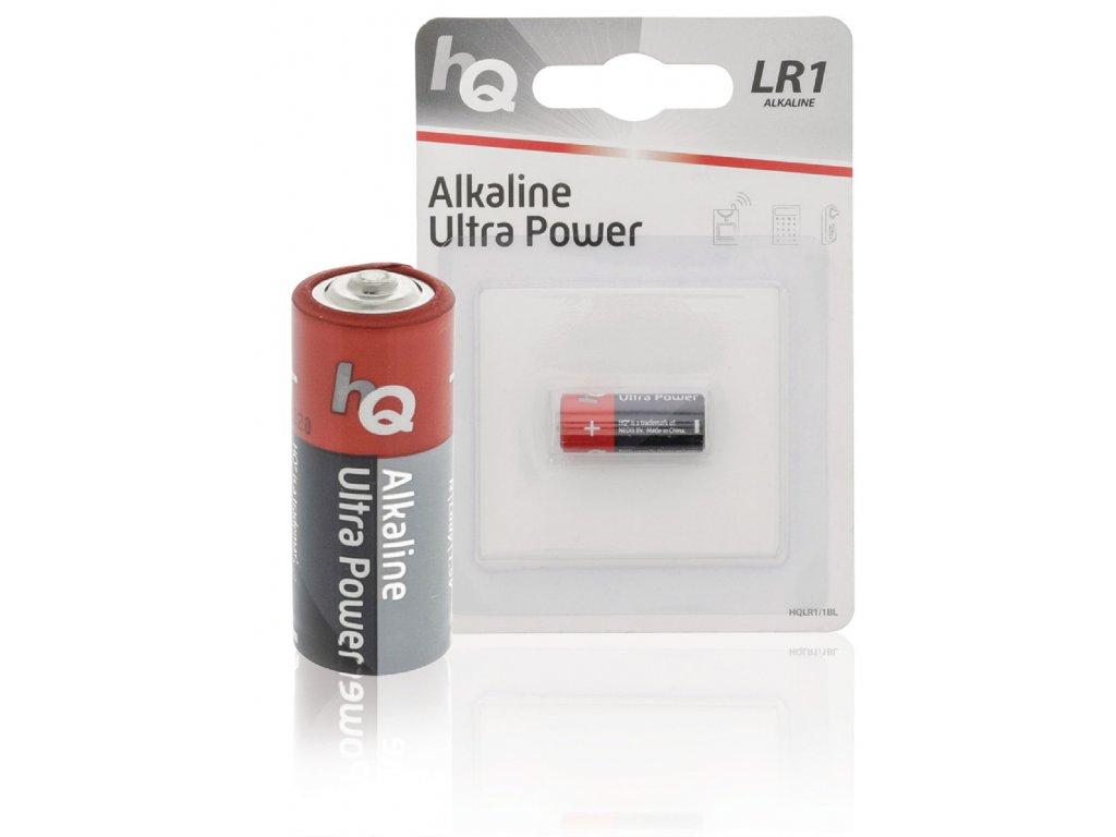 Alkalická baterie HQ Ultra Power LR1 1.5 V, 1ks, HQLR1/1BL