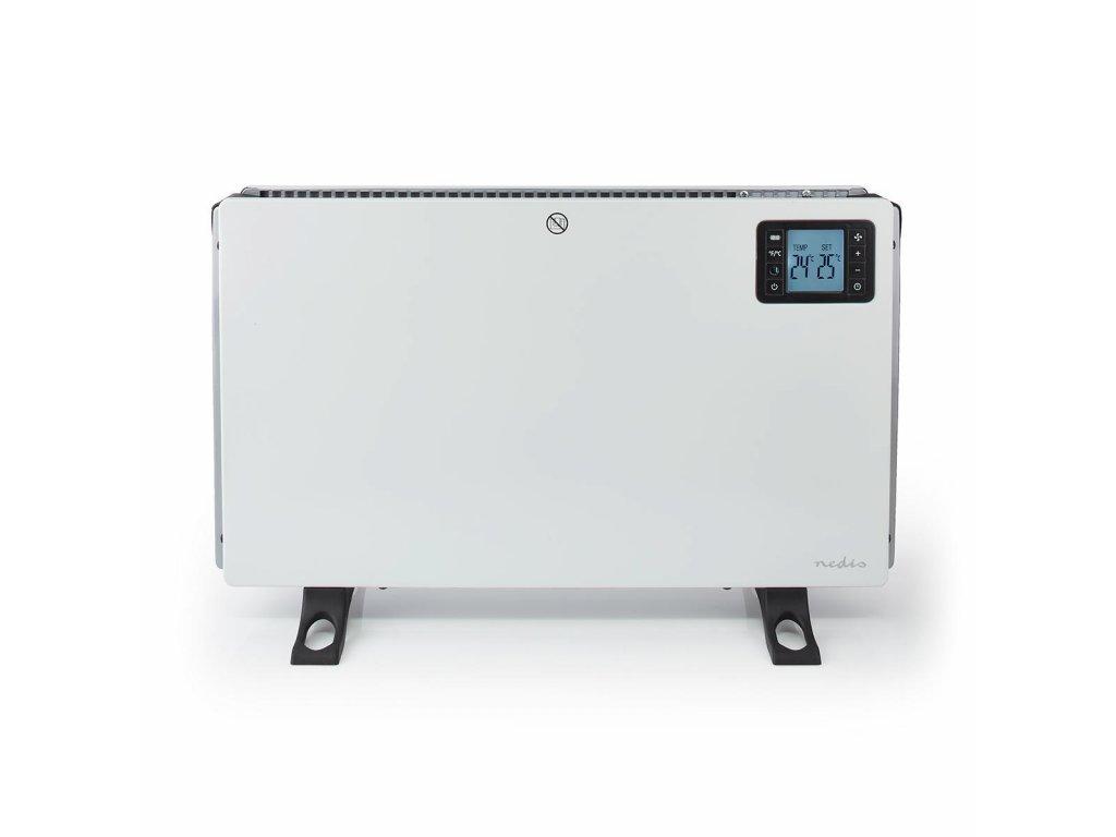 Nedis HTCO50FWT konvekční přímotop, LCD displej, 750/1250/2000 W, turbo, časovač, dálkový ovladač, bílá